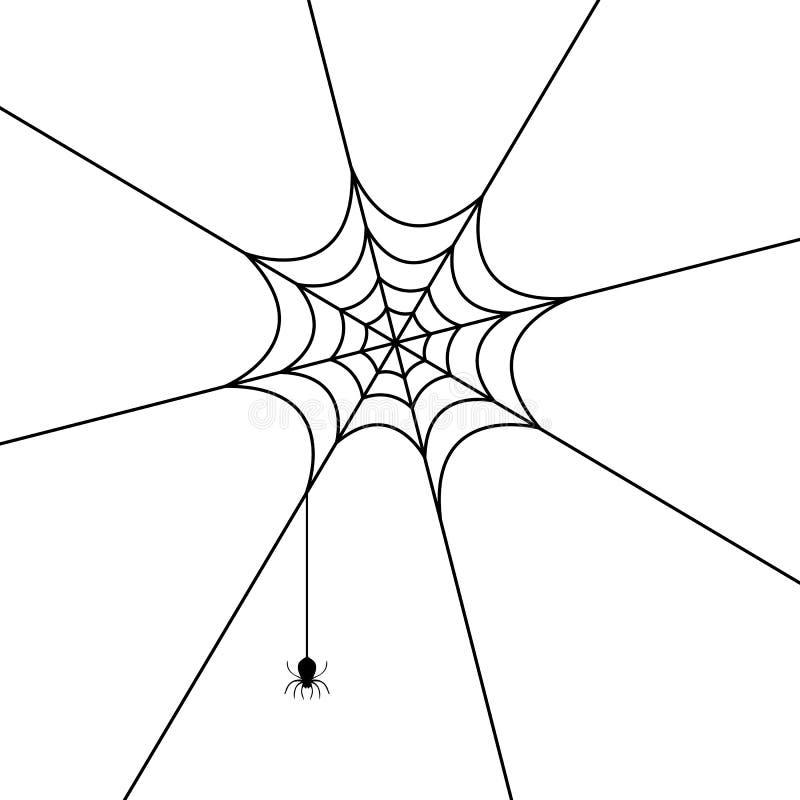Spinneweb stock illustratie