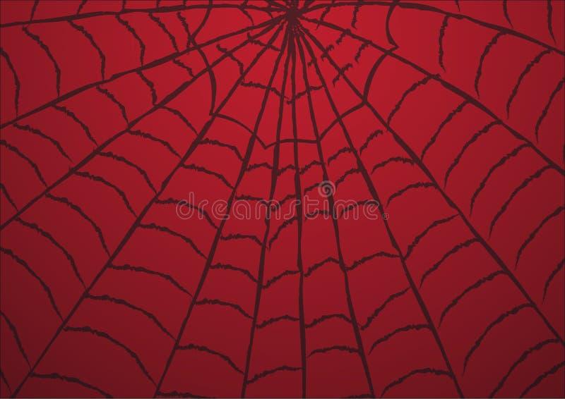 Spinneweb Rode achtergrond Duif als symbool van liefde, pease royalty-vrije illustratie