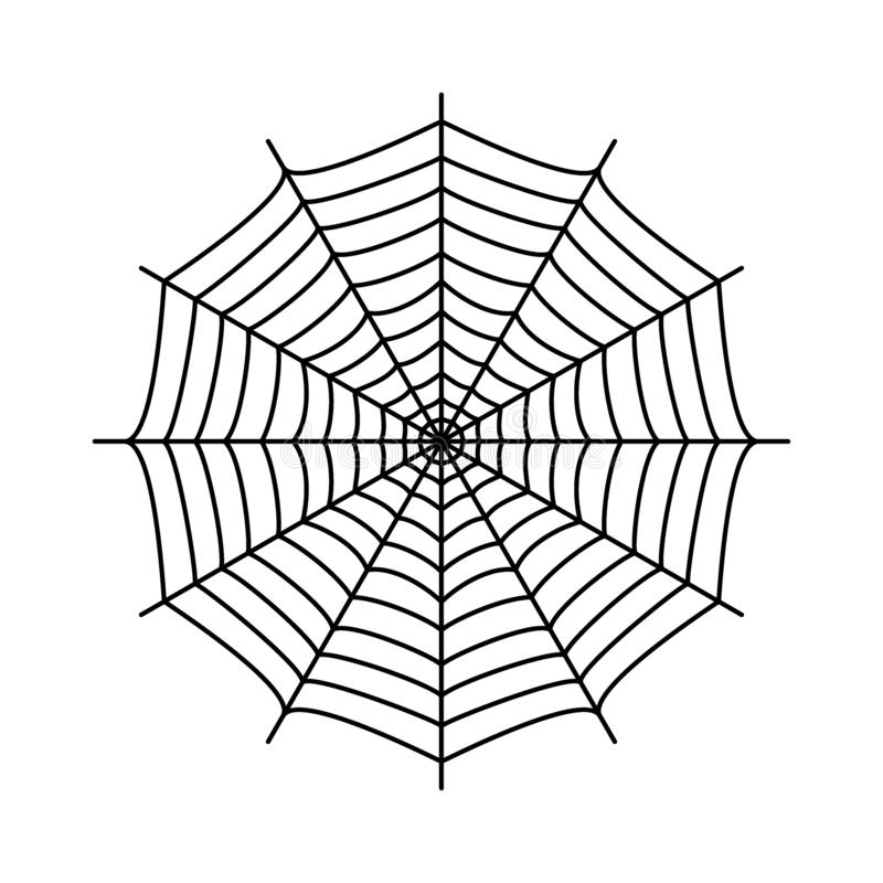 Spinneweb Spin` s Web royalty-vrije illustratie
