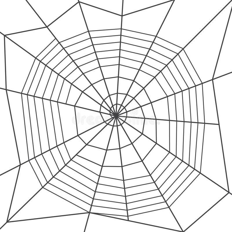 Spinneweb, spiraalvormig type Decoratie aan Halloween vector illustratie