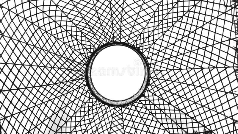 Spinneweb in wit royalty-vrije stock fotografie