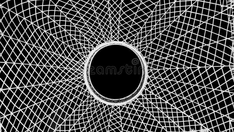 Spinneweb in zwarte royalty-vrije stock fotografie