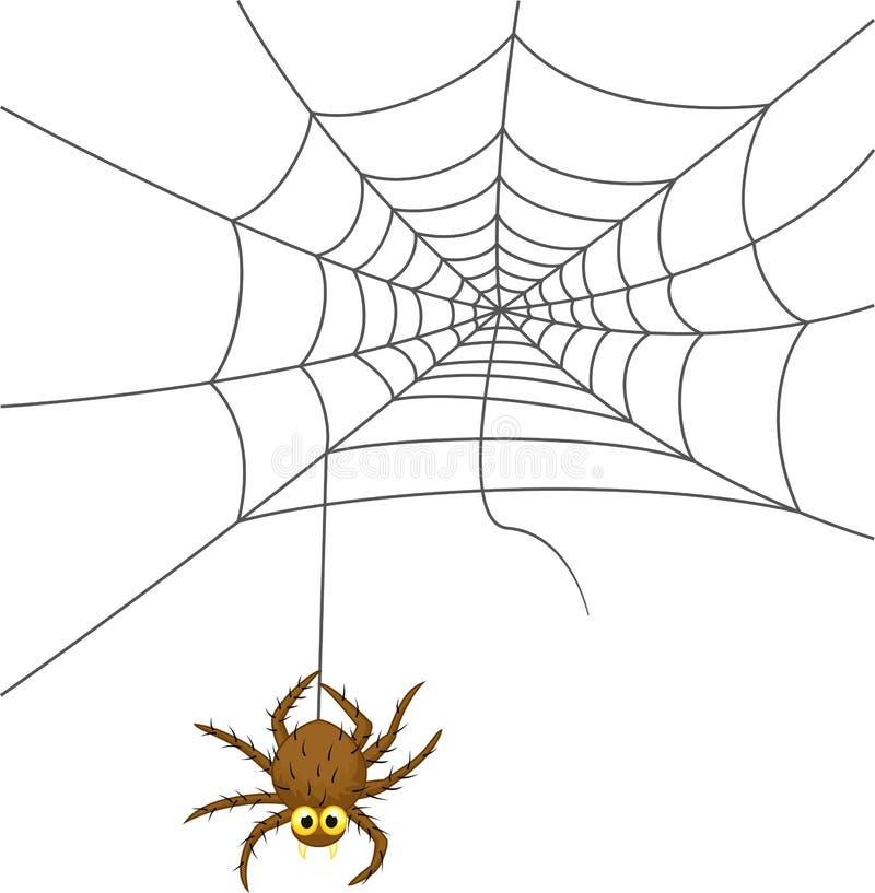 Spinnewebbeeldverhaal vector illustratie