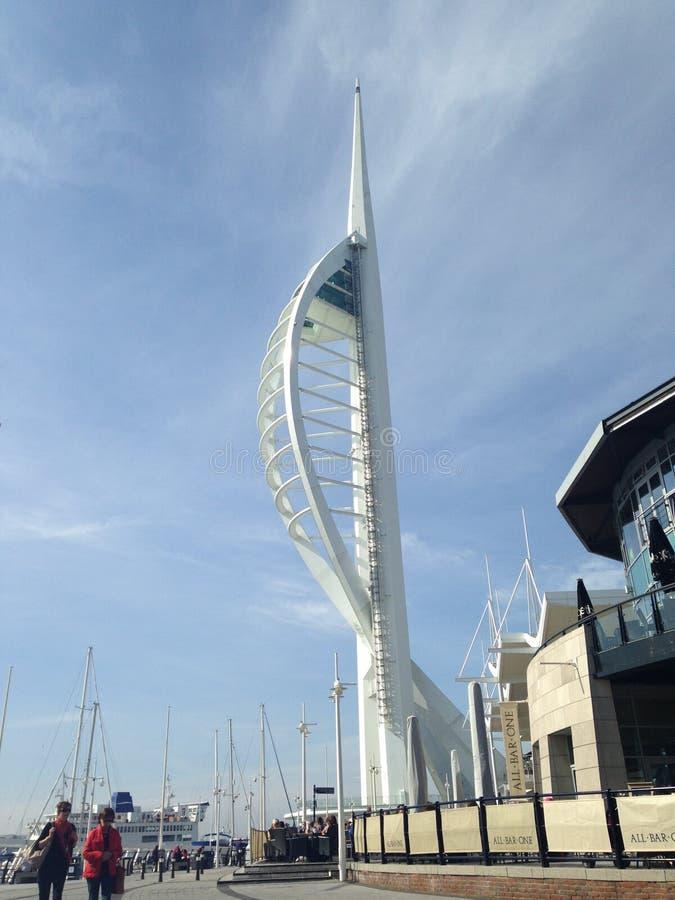 Spinnicar wierza England Portsmouth zdjęcia stock