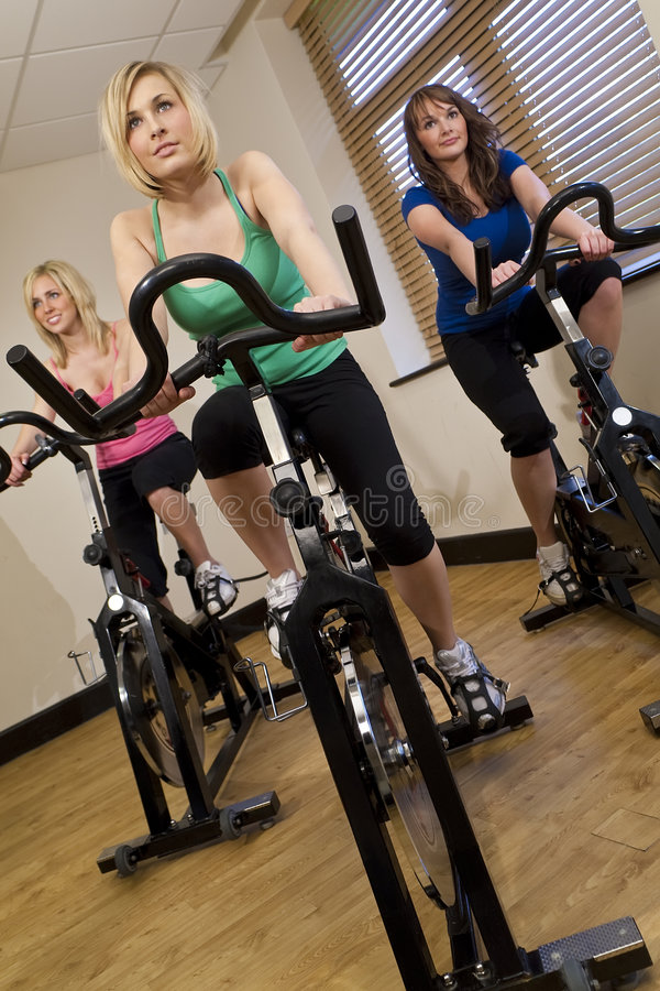 Download Spinning Class stock photo. Image of friends, attractive - 8143076