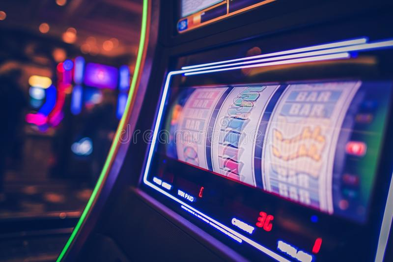 Spinning Slot Machine royalty free stock images