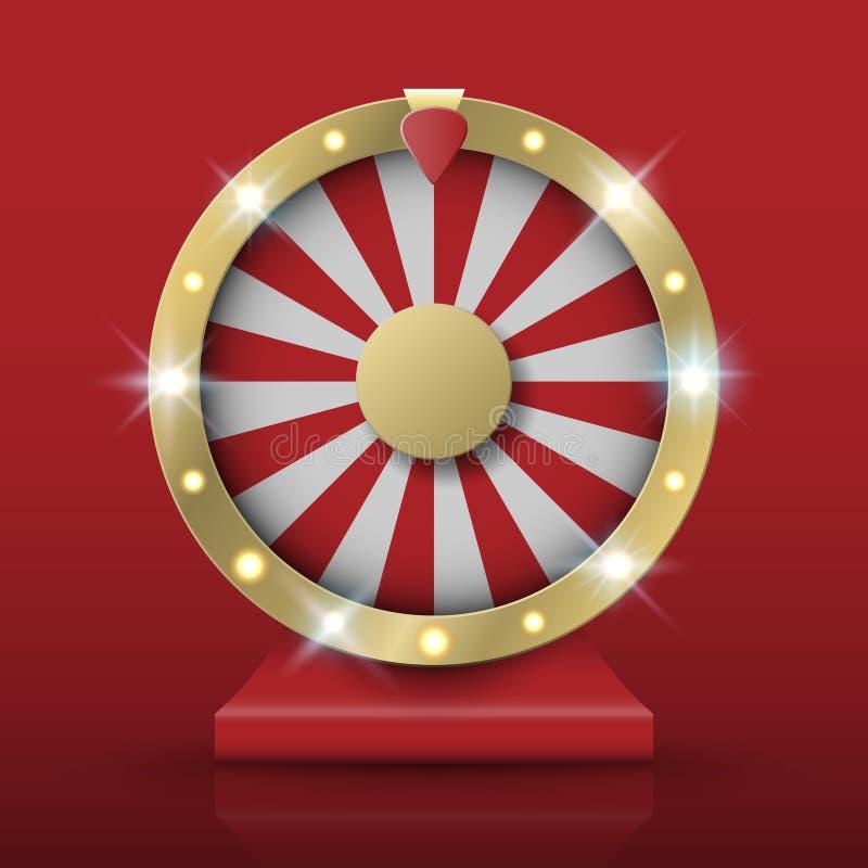 Spinning fortune wheel, vector. Illutration stock illustration