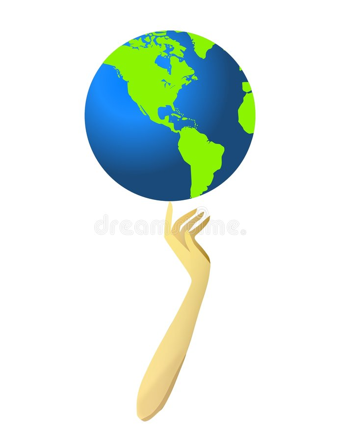 Spinning Globe stock illustration