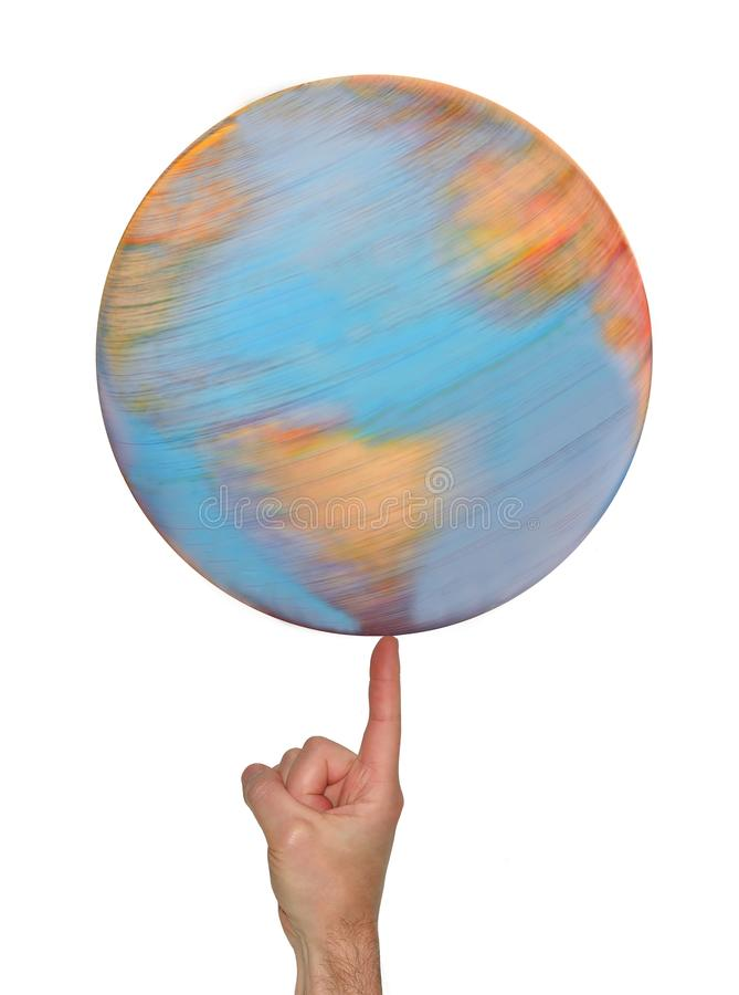 Spinning Globe royalty free stock photos
