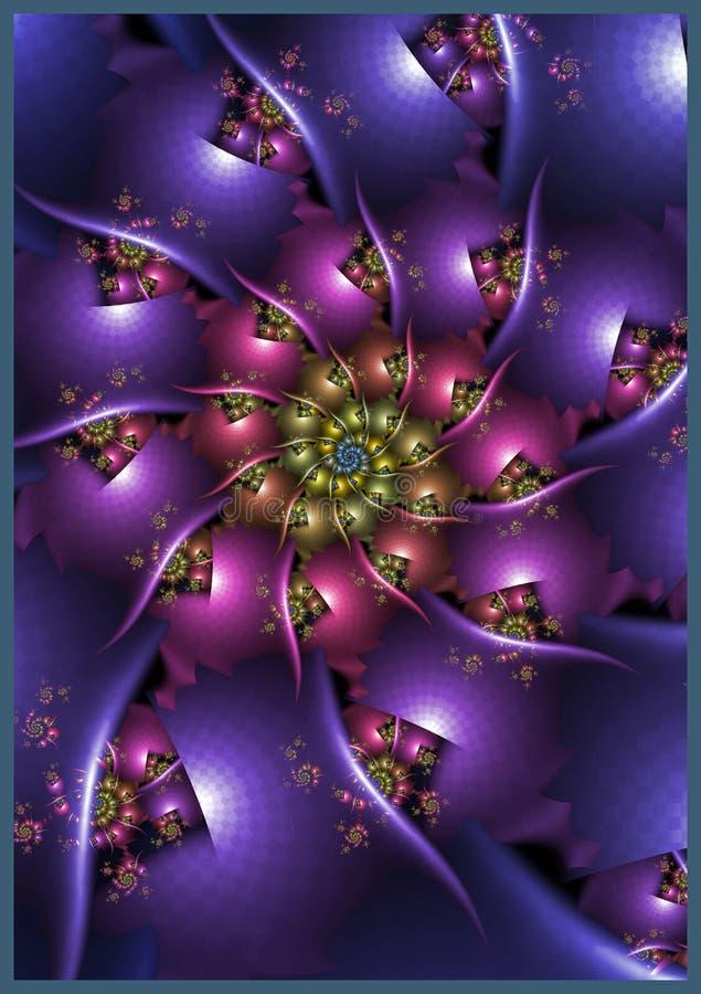 Spinning Purple Spiral stock illustration