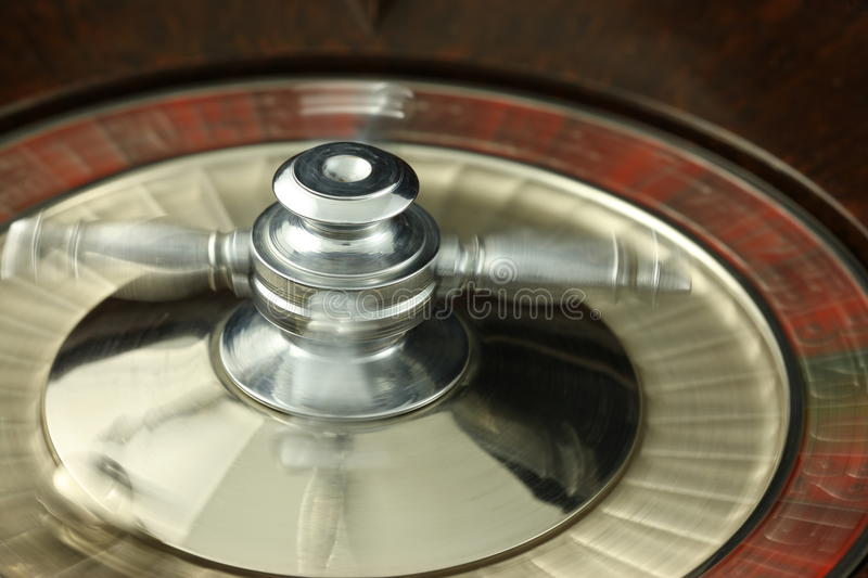 Spinning Roulette Wheel royalty free stock photos