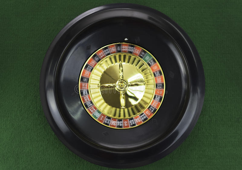 Spinning roulette wheel royalty free stock photo