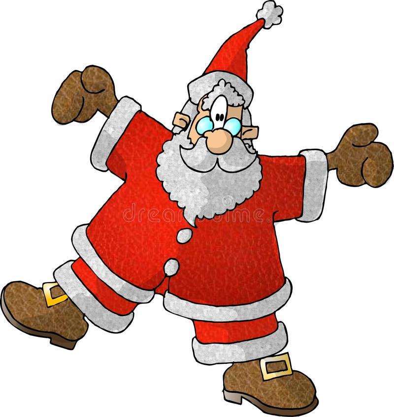 Spinning Santa vector illustration