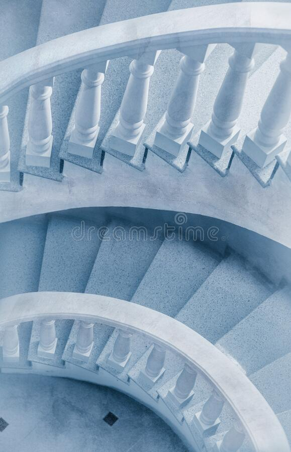 Spinning stairs royalty free stock photography