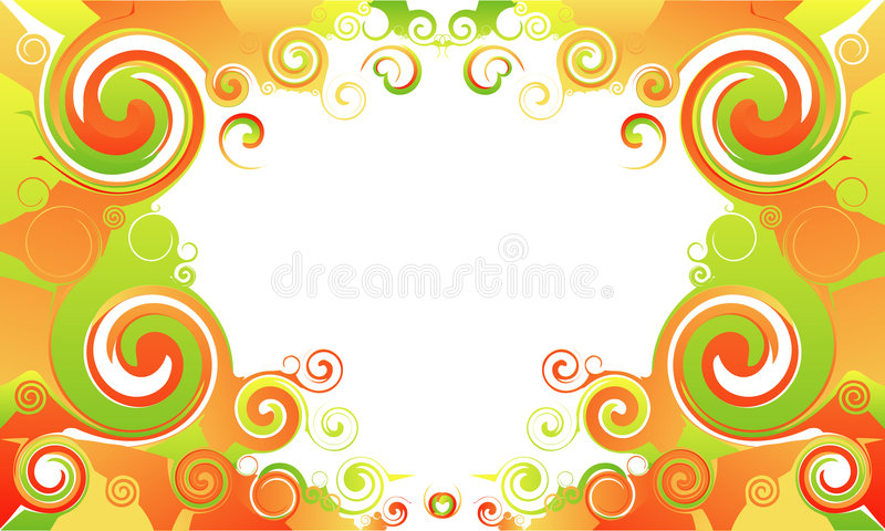 Spinning waves. A mirrored spinning waves with a white space for text or logo royalty free illustration