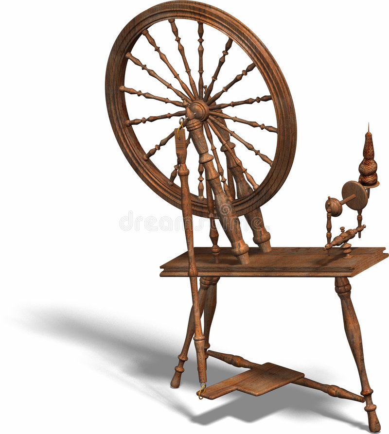 Spinning wheel royalty free illustration