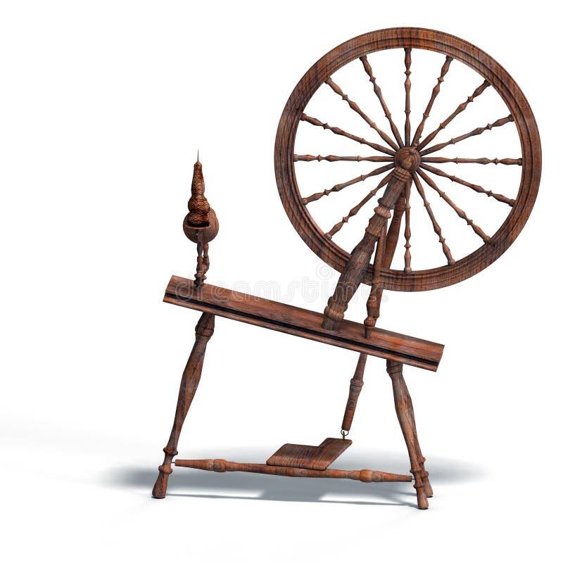 Download Spinning wheel stock illustration. Illustration of tale - 9283568