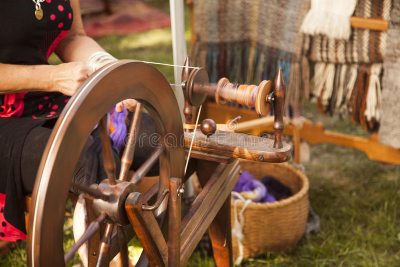 Spinning wheel royalty free stock images