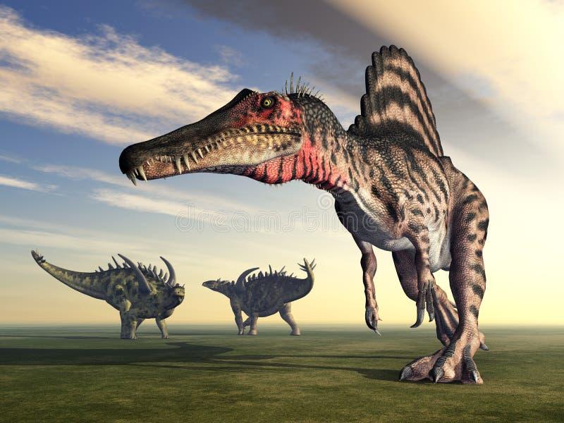 Spinosaurus και Gigantspinosaurus απεικόνιση αποθεμάτων