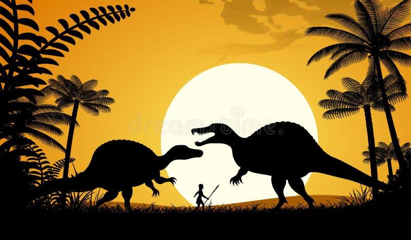 Spinosaurus illustration de vecteur