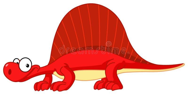 Spinosaurus dinosaur stock illustration