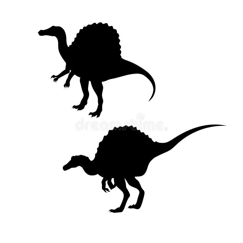 Spinosaurus Dinosaur Vector Silhouettes Stock Vector ...