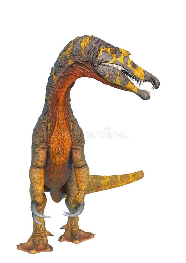 Spinosaurus no fundo branco e nas nenhumas sombras ilustração royalty free
