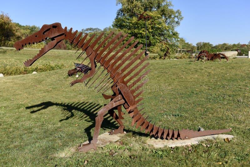 Spinosaurus och hans skugga fotografering för bildbyråer