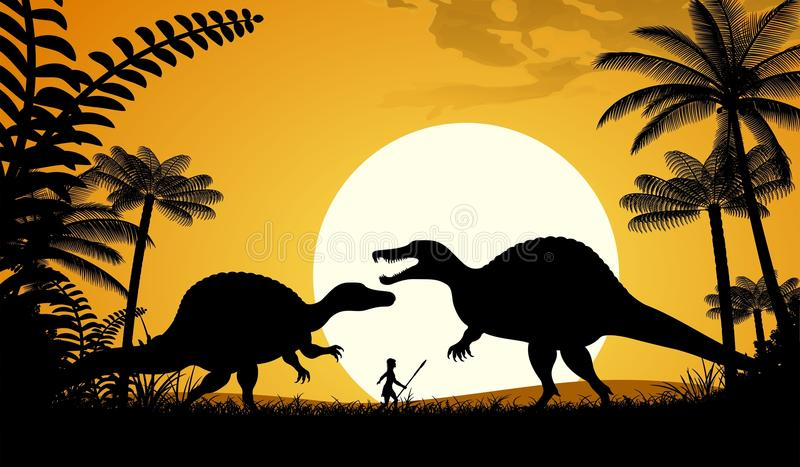 Spinosaurus vector illustration