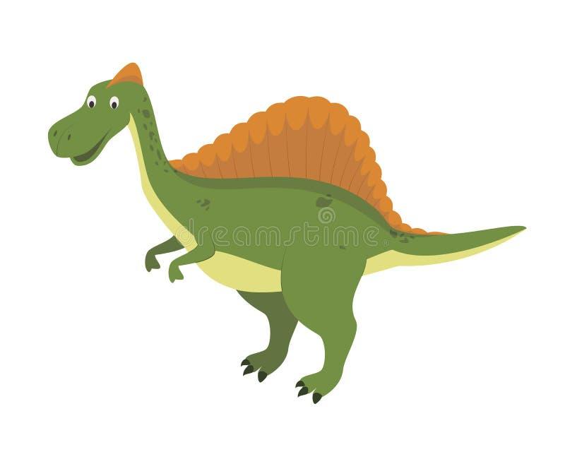 Spinosaurus vektorillustration i tecknad filmstil för ungar stock illustrationer