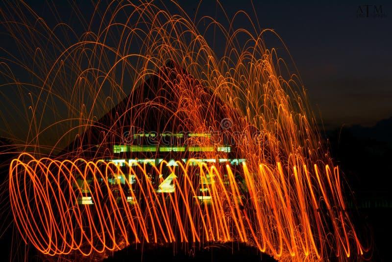 Spinowy ogień zdjęcie royalty free