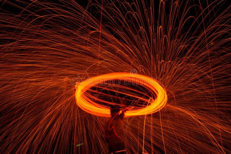 Spinowy ogień zdjęcia stock