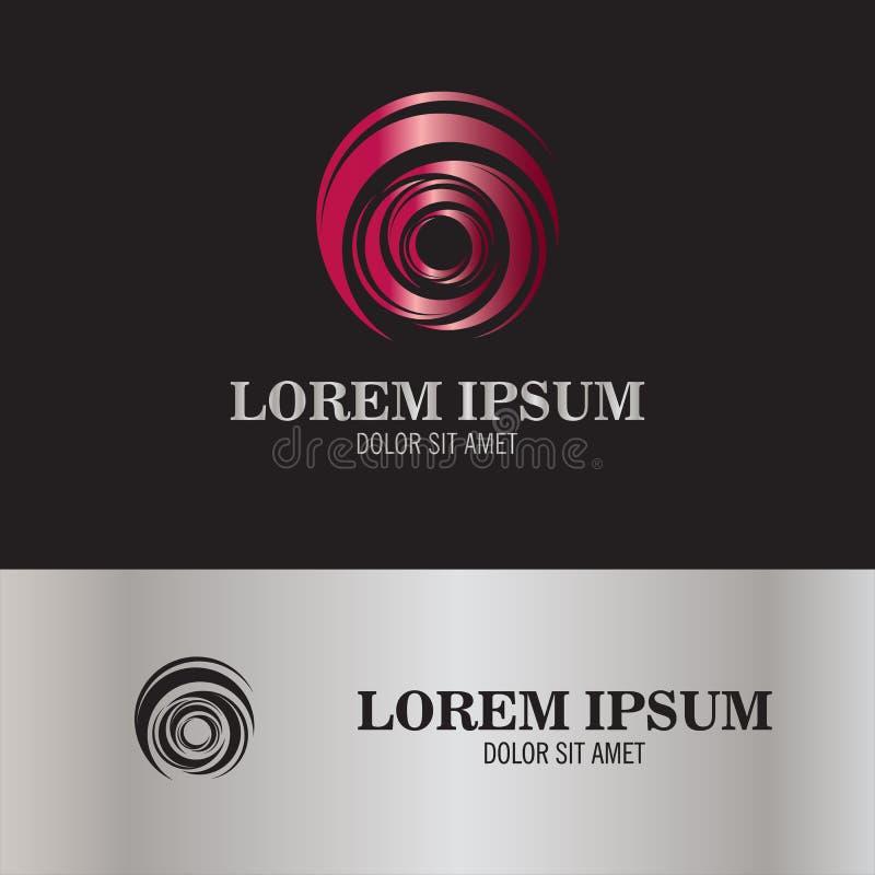 Spinowy pętla logo ilustracja wektor
