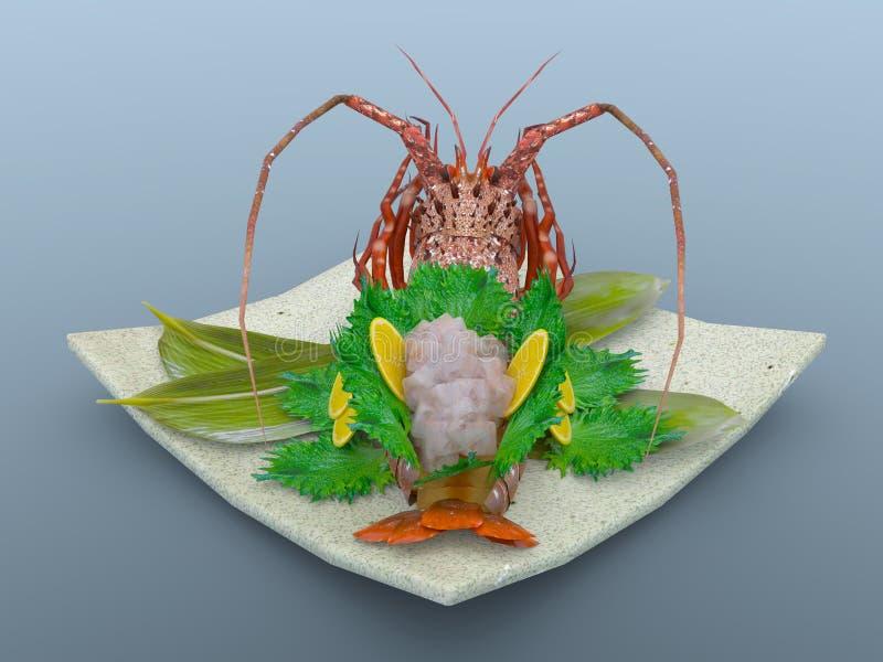 spiny japansk hummer arkivfoto