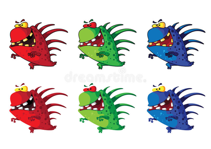 Download Spiny monster stock vector. Image of halloween, horror - 26127890