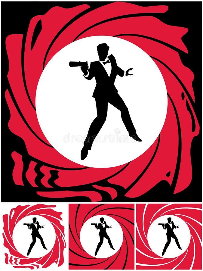 spion stock illustratie