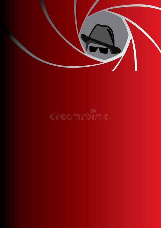 Spion, Vertreter, Gangster oder Detektiv im Fedorahut vektor abbildung