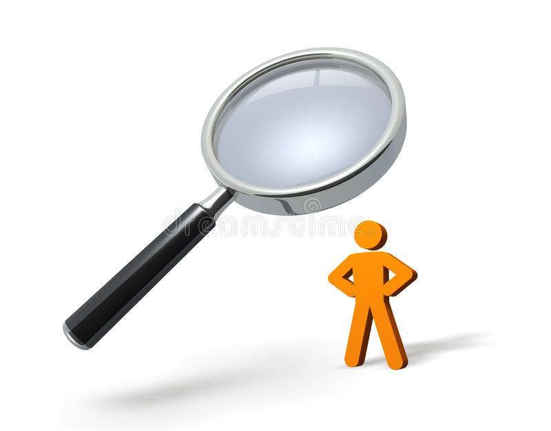 Person is being spied on. Abstract 3D illustration as symbol image royalty free illustration