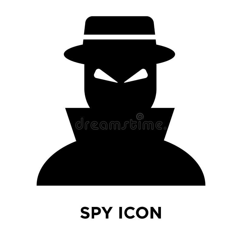 Spionera symbolsvektorn som isoleras på vit bakgrund, logobegrepp av Sp stock illustrationer