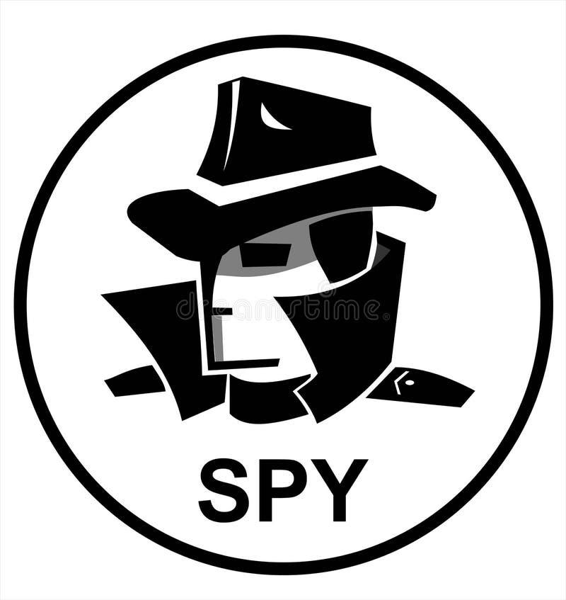 Spionmedel, hemligt medel, en hacker vektor illustrationer