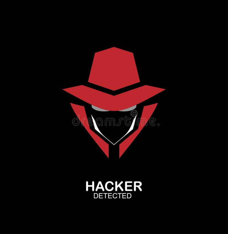Spionmedel, hemligt medel, en hacker Presidentens säkerhetstjänstmedelsymbol Inco royaltyfri illustrationer
