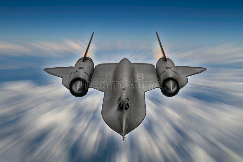 Spionnivå för koltrast SR-71 arkivbilder
