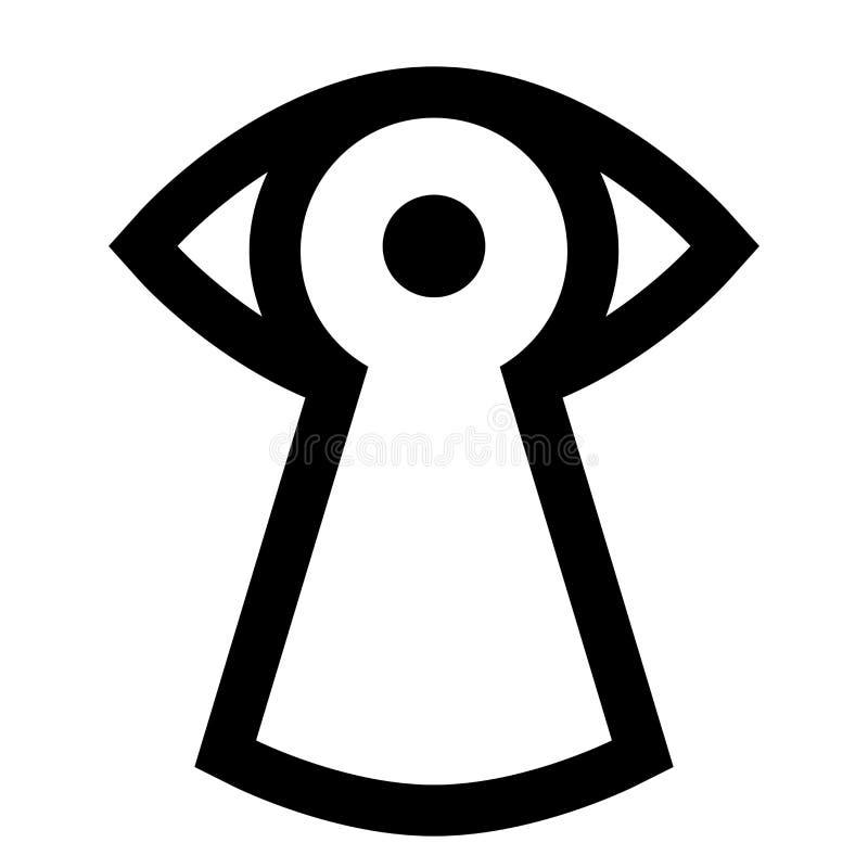 Spionzeichen vektor abbildung