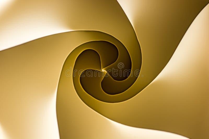 Spiraal met licht en schaduwspel als patroon vector illustratie
