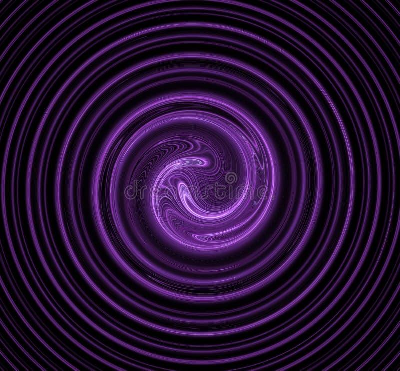 Spiraalvormig abstract fractal beeld behang Creatief digitaal kunstwerk stock illustratie