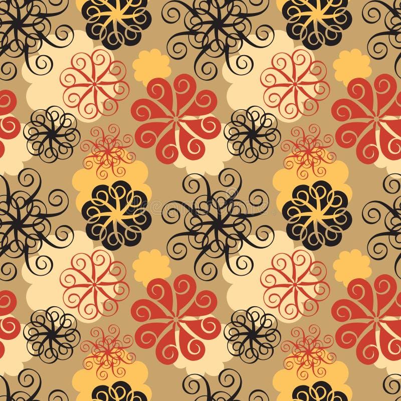 Spiraalvormig Bloempatroon royalty-vrije illustratie