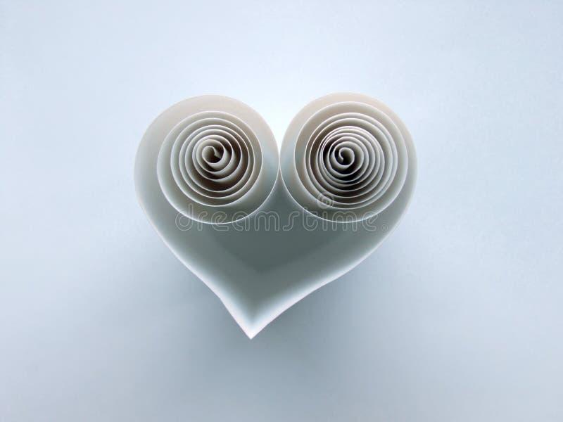 Spiraalvormig hart van document royalty-vrije stock afbeeldingen