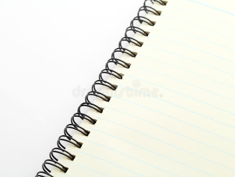 Spiraalvormig notitieboekje royalty-vrije stock foto's