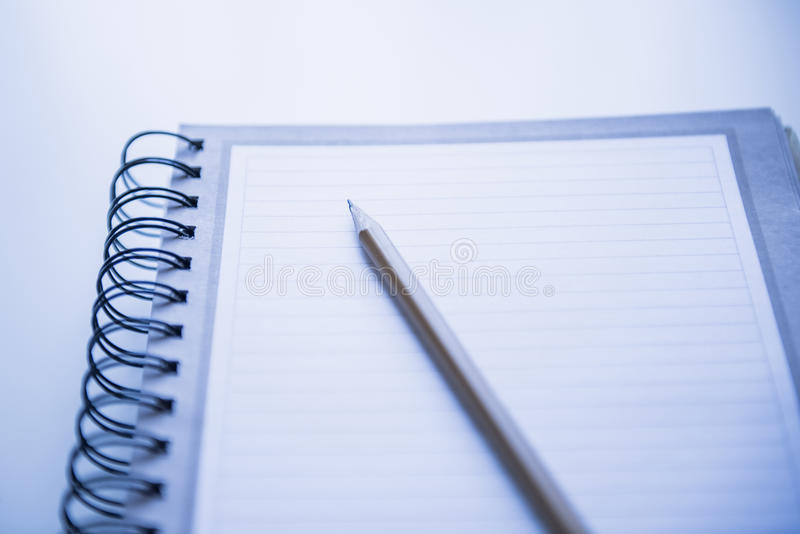 Spiraalvormig notitieboekje stock fotografie
