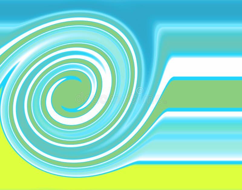 Spiraalvormig patroon stock illustratie